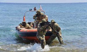 تمرینات نظامی ترکیه در سواحل لیبی